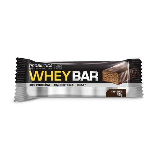 Whey Protein Bar Probiótica 40G (Chocolate)