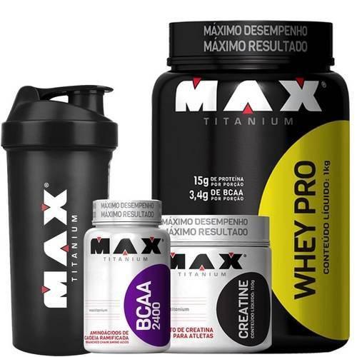 Tudo sobre 'Whey Protein + Bcaa + Creatina - Max Titanium'