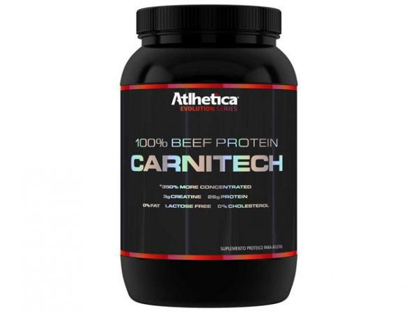 Whey Protein Beef Protein Carnitech 900g Chocolate - Atlhetica