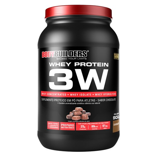 Whey Protein 3W 900g Chocolate – Bodybuilders