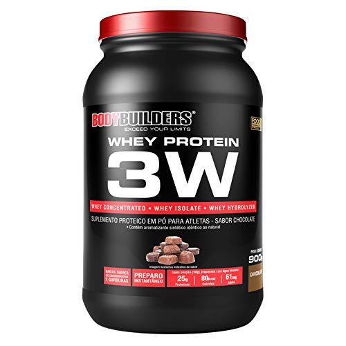Whey Protein 3W 900g Chocolate - Bodybuilders