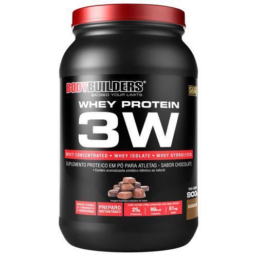 Whey Protein 3W - Chocolate - 900G - Bodybuilders