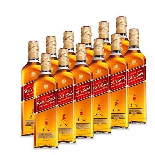 Whisky Johnnie Walker Red Label 1000ml com 12 Un.
