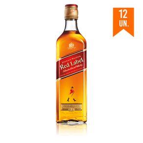 Whisky Johnnie Walker Red Label 750ml com 12UN