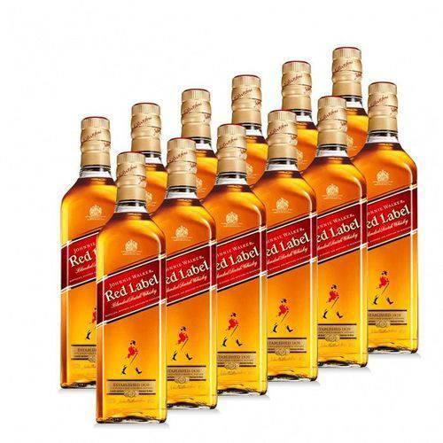 Whisky Johnniee Walkerr Rede Label 1000ml com 12 Un.
