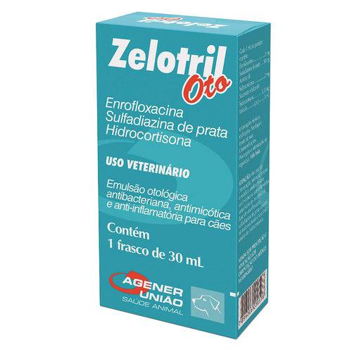 Zelotril Oto Agener União Frasco 30ml