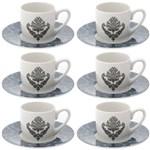 Ficha técnica e caractérísticas do produto 6 Xícaras P/ Café de Porcelana Barroque 90ml Lyor 68326