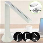 Abajur Luminária Dobrável 18 LEDs Touch WMTYZ811 25cm Branco Recarregável