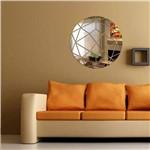 Acrílico Espelho Decorativo Circulo Abstrato