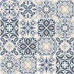 Adesivo de Azulejo Azul Real 20x20 Cm com 12un
