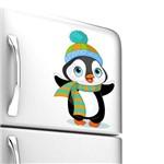 Adesivo de Geladeira Pinguim Agasalhado 25x16 Cm