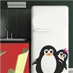Ficha técnica e caractérísticas do produto Adesivo de Geladeira Pinguim Casal Sorrindo