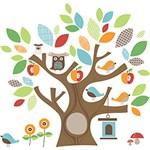 Ficha técnica e caractérísticas do produto Adesivo de Parede Amigos da Árvore Skip Hop
