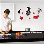Ficha técnica e caractérísticas do produto Adesivo de Parede - Cozinha - Frutas - Azul Marinho