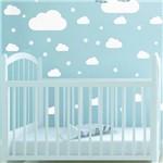 Adesivo de Parede Infantil Nuvens Brancas 64un