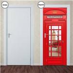 Adesivo Decorativo de Porta - Cabine Telefônica - Londres - 172pt