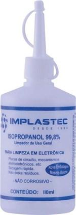 Ficha técnica e caractérísticas do produto Alcool Isopropílico 110ml com Bico Aplicador - Implastec
