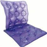 Almofada Assento Caixa de Ovo Quadrada em Gel com Encosto Inflável Anti Escaras Bioflorence 103-42