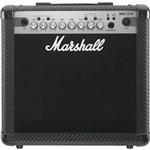 "Ficha técnica e caractérísticas do produto Amplificador Marshall MG15CFX Carbon Fibre - Combo para Guitarra 15w 1x8"" com Efeitos"