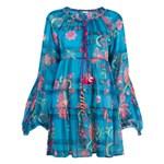Ficha técnica e caractérísticas do produto Anjuna Vestido com Estampa Floral - Azul