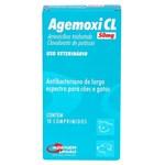 Ficha técnica e caractérísticas do produto Antibiótico Agemoxi CL Agener 50mg C/ 10 Comprimidos