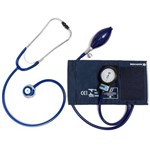 Aparelho de Pressão Ad. Nylon Velcro + Esteto Azul Bic