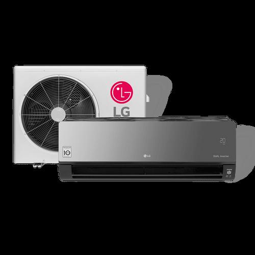 Ar-Condicionado Split LG, Artcool, 12.000Btus, Quente/Frio, Dual Inverter - S4-W12JARPA - 220V