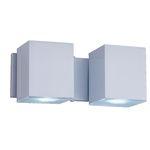Ficha técnica e caractérísticas do produto Arandela Alumínio 2Xgu10 Cube Articulada Bca A-92 BR Ideal