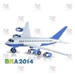 Aviao - Brinkemix - BRA015SL Azul