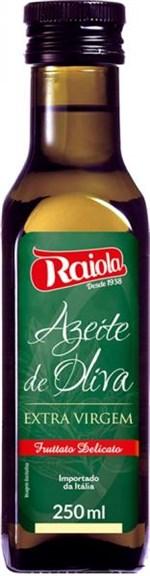 Ficha técnica e caractérísticas do produto Azeite de Oliva Extra Virgem Italiano 250ml - Raiola