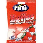 Ficha técnica e caractérísticas do produto Bala de Gelatina Beijos Morango 100g - Fini