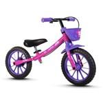 Ficha técnica e caractérísticas do produto Balance Bike Nathor Rosa Aro 12`