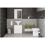 Ficha técnica e caractérísticas do produto Balcão de Banheiro com 2 Portas Branco Politorno - Branco