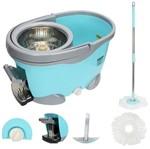 Ficha técnica e caractérísticas do produto Balde Spin Mop 360 Inox com Pedal Aluminio Completo Sp301-b