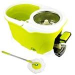 Ficha técnica e caractérísticas do produto Balde Spin Mop 360 Inox com Pedal Alumínio Completo - Verde