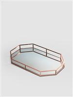 Ficha técnica e caractérísticas do produto Bandeja Espelhada Cobre M