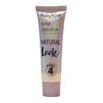 Ficha técnica e caractérísticas do produto Base Líquida Natural Look Nude 4 Ruby Rose