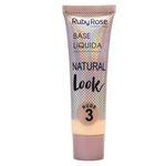 Ficha técnica e caractérísticas do produto Base Líquida Natural Look Nude 3 - Ruby Rose