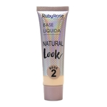 Ficha técnica e caractérísticas do produto Base Líquida Natural Look Nude 2 Ruby Rose