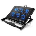 Ficha técnica e caractérísticas do produto Base para Notebook Multilaser 6 Fans, Led Azul, AC282