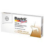 Ficha técnica e caractérísticas do produto Baytril Flavour 150mg – 10 Comprimidos _ Bayer 150mg