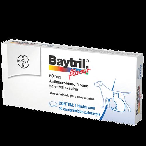 Ficha técnica e caractérísticas do produto Baytril Flavour Cães e Gatos 50mg – 10 Comprimidos Antibiótico Bayer 50mg