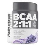 Ficha técnica e caractérísticas do produto BCAA 2:1:1 - 210g Uva - Atlhetica Nutrition
