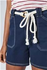 Ficha técnica e caractérísticas do produto Bermuda Jeans Solta de Cintura Alta