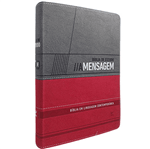 Bíblia de Estudo a Mensagem Vermelha e Cinza