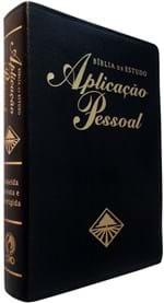 Ficha técnica e caractérísticas do produto Bíblia de Estudo Aplicação Pessoal Grande - Preta (Preto)
