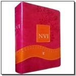 Biblia de Estudo Nvi - Capa Feminina Luxo Rosa e L