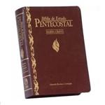 Ficha técnica e caractérísticas do produto Bíblia de Estudo Pentecostal com Harpa - Pequena - Vinho