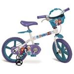 Ficha técnica e caractérísticas do produto Bicicleta Aro 14 Bandeirante Disney Frozen - Branca