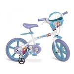 Ficha técnica e caractérísticas do produto Bicicleta Aro 14 Disney Frozen Brinquedos Bandeirante Branca